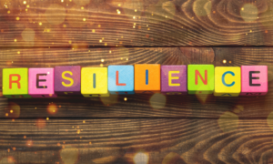 "Blocks spelling out ""resilience."""